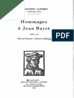 Dutoit L'Exemplum de Ligustinus Hommages á Jean Bayet