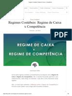 Regimes Contábeis_ Regime de Caixa x Competência