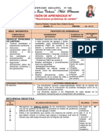 MATEMÁTICA - 4to GRADO SESIÓN PROBLEMAS DE CAMBIO