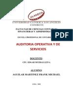 Justificacion y Factores de Auditoria Operativa