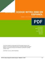 Manual Dodge Nitro 2008 en Espanol