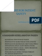 4. Cek List for Patient Safety
