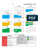 Calendario Universidad Popular 2018-2019