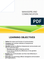 Chapter 15 - Managers and Communication