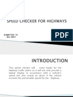 Speed Checker for Highways ppt