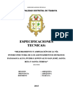 Especificaciones Tecnicas 2da Etapa