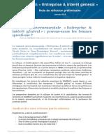 Chap 11 Complement Entreprise Et Interet General