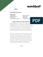 matchbox first press release 261final