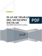 Plan de Trabajo Municipio Escolar Langa 2017