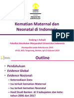 1 Kematian Maternal Dan Neonatal Di Indonesia