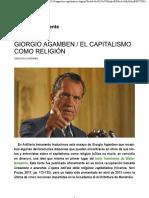 El capitalismo como religión (Agamben) - Creazione e anarchia (11 pp.).pdf