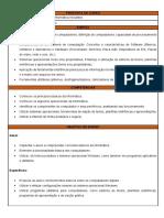 EMENTA CURSO DE INFORMATICA INICIANTES