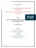 Abstract on Role of Judiciary in Environmental Law