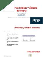 Sesión 2 - Compuertas Lógicas y Álgebra Booleana