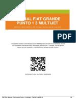 Manual Fiat Grande Punto 1.3 Multijet