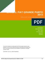 Manual Fiat Grande Punto 2013