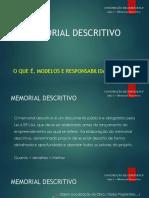 Aula 1 - Memorial Descritivo
