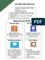 parents - everyday math online resources