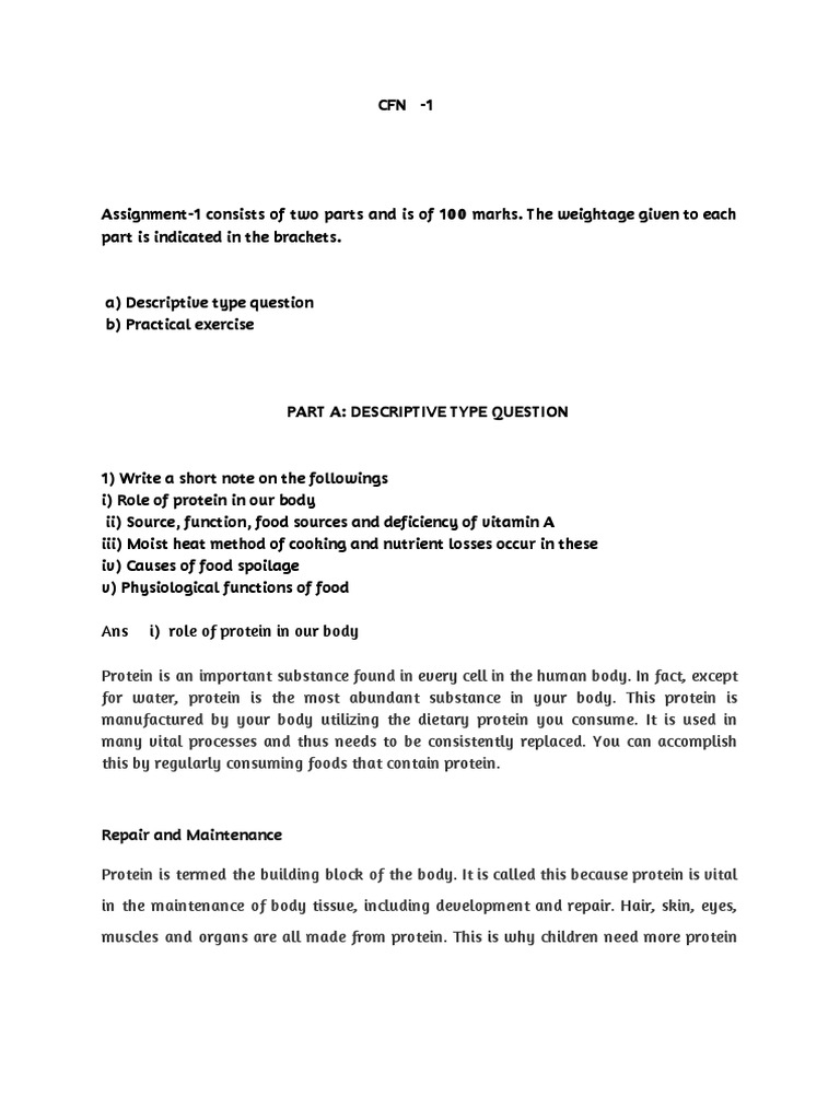 ignou cfn 1 Solved Assignment 2018- 2019 | Convenience Food