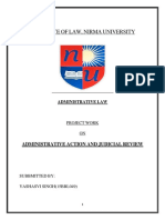 Administrative Action and Judicial Review(15bbl049)