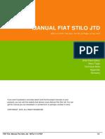 Manual Fiat Stilo Jtd