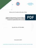 Vigilancia Gubernamental y Protesta Pública en Puerto Rico - Informe de La Querella Núm. 2017-04-16861 ERS