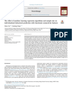 The effect of machine learning regression algorithms and sample size on individualized behavioral prediction with functional connectivity features