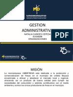 Gestion administrativa organizaciones