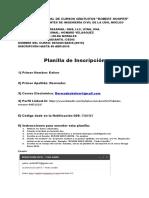 Planilla Inscripcion Design Basis 2019 Kelver Bermudez