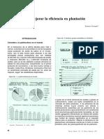 Mejorar la eficiencia en plantación