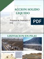 EXTRACCION SOLIDO LIQUIDO
