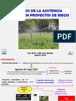 Asistencia tecnica Proyectos de Riego