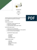 Cotización Agroturismo Entre Bosques -CENA 8VO
