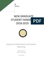 2018-2019 New Grad Student Handbook