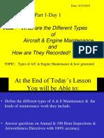 Aircraft & Engine Maintenance Part 1-Day 1