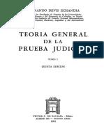 Teoría General de La Prueba Judicial