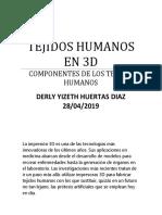 Tejidos Humanos en 3d