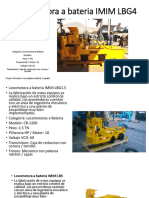 Locomotora a Bateria IMIM LBG4