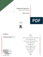Fragmentos de Filosofia Civil Ensayos y Estudios Bibliograficos