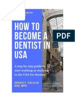 How to Become a Dentist in USA SAMPLE