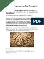 Espelta e Seus Benefícios Para a Sua Saúde