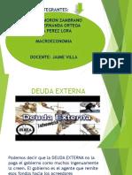 Deuda Externa Exposicion Macroeconomia