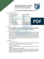 Syllabus Del Asignatura Potabilizacion II