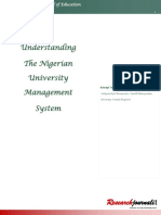 Understanding the Nigerian University Management System