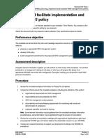 BSBWHS605 - Assessment Tasks
