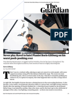 Never Play Ravel to Bats! Pianist Boris Giltburg on His Worst Pooh-poohing Ever _ Music _ the Guardian