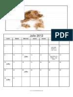 Foto Calendario Julio 2012