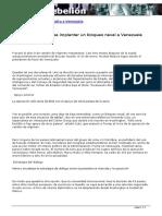 EEUU Tantea Bloqueo Naval a Venezuela