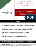 FCFA - Opportunités-défis Et Perspectives