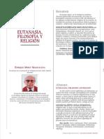 Enrique Miret Magdalena – Eutanasia, Filosofía y Religión